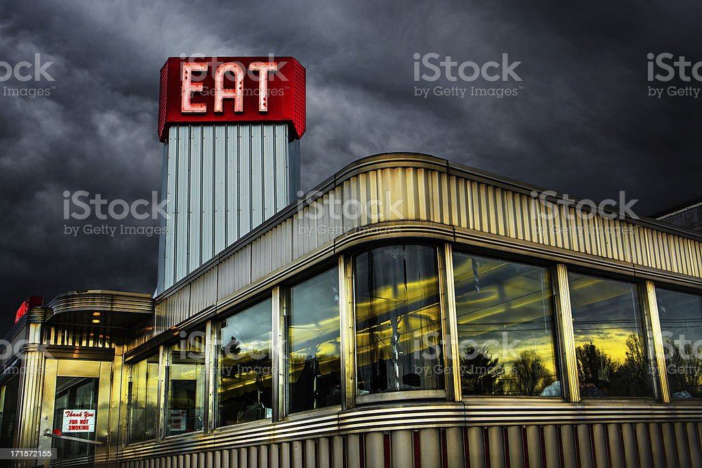 Classic American Diner stock photo