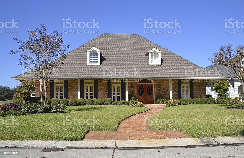 Classic American Home royalty-free stock photo