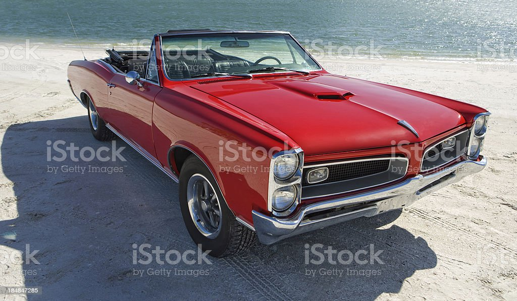 Classic American Muscle Car stock photo