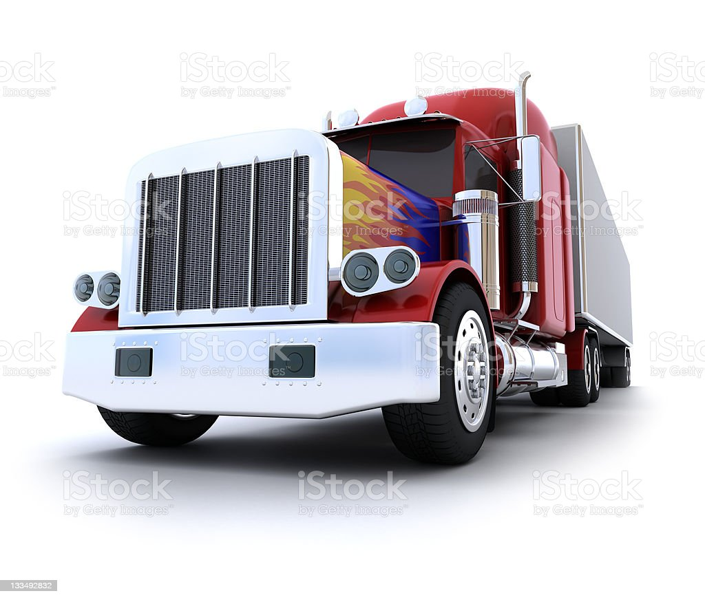 Classic american truck. royalty-free stock photo