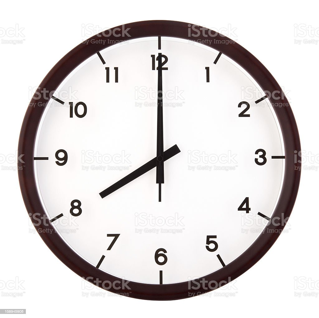 Classic analog clock royalty-free stock photo