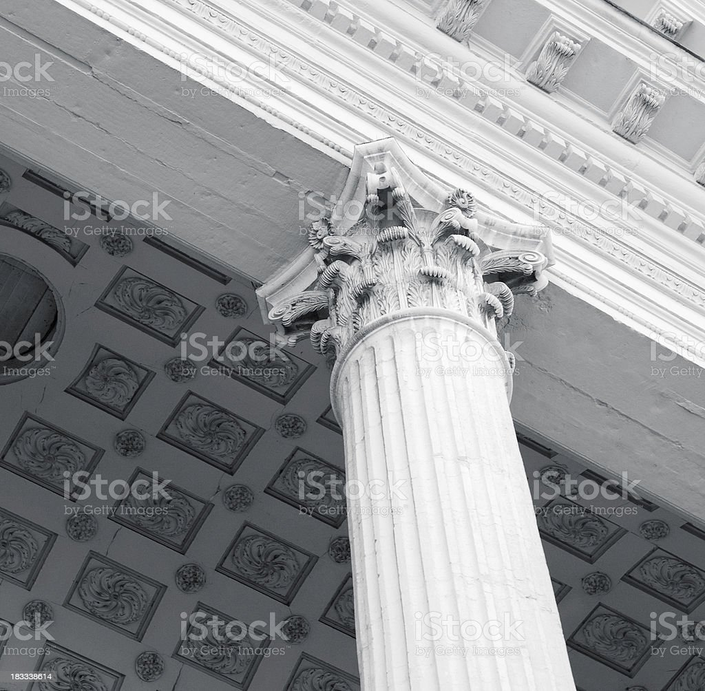 Classic ancient style column - Square composition royalty-free stock photo