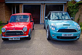 Classic and BMW mini Coopers