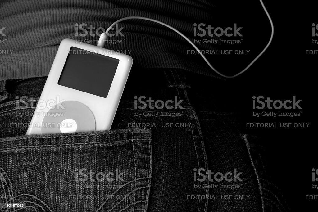 Classic Apple iPod stock photo
