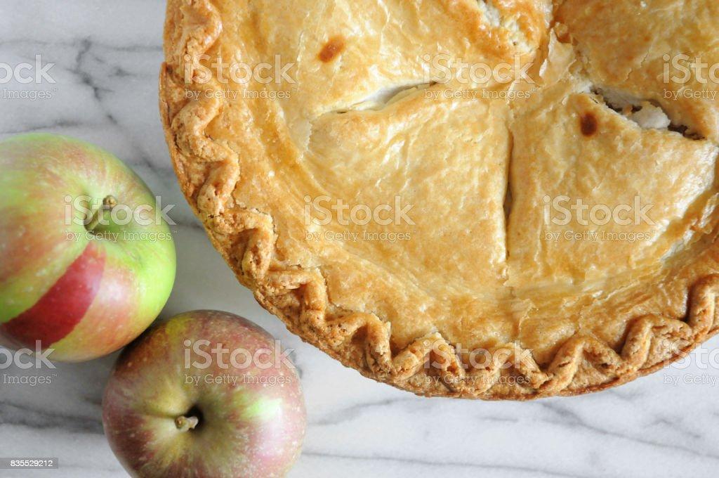 Classic Apple Pie stock photo