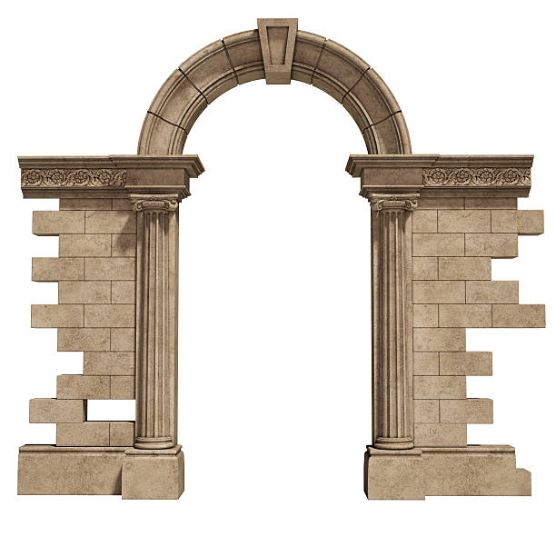 classic arch classic arch. part of built structure. entrance. arch architectural feature stock pictures, royalty-free photos & images