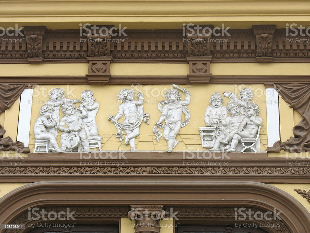 Classic architecture house decoration details royalty-free stock photo