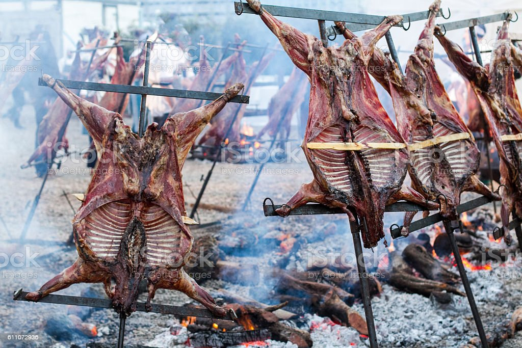 Classic Argentinian Asado stock photo