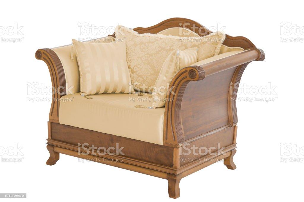 Classic Armchair Modern Designer Chair On White Background Texture