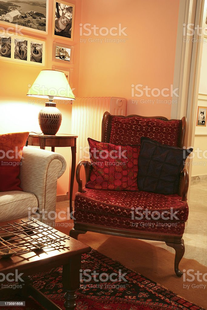 Classic armchair royalty-free stock photo