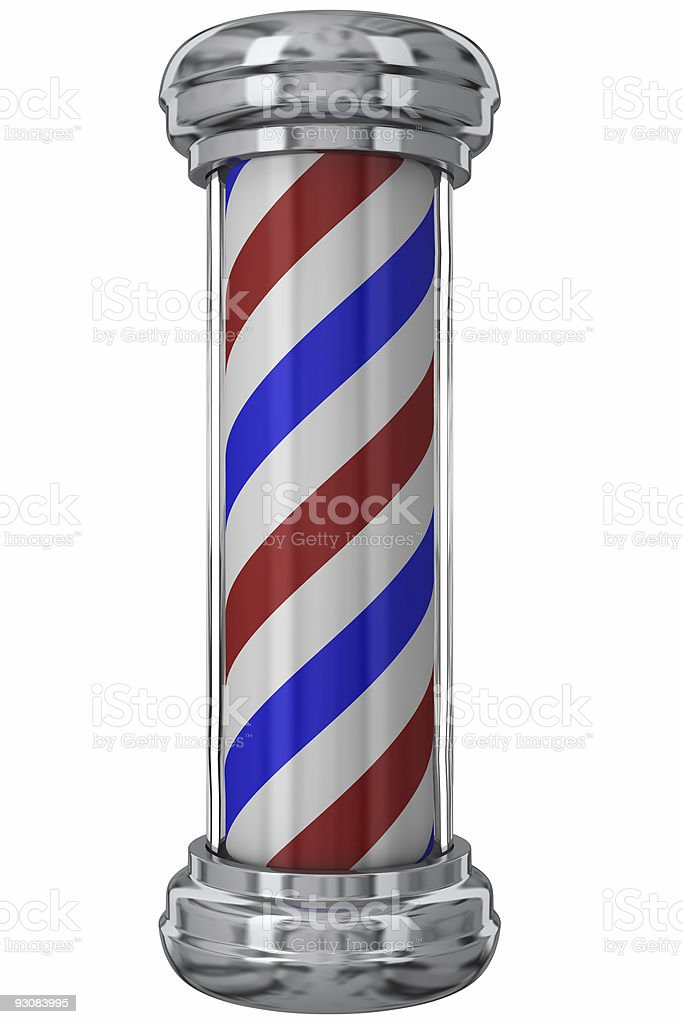 Classic Barber Pole royalty-free stock photo