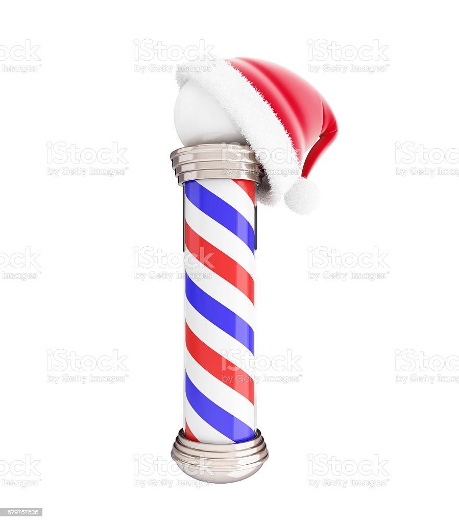 classic barber santa hat 3d Illustrations stock photo