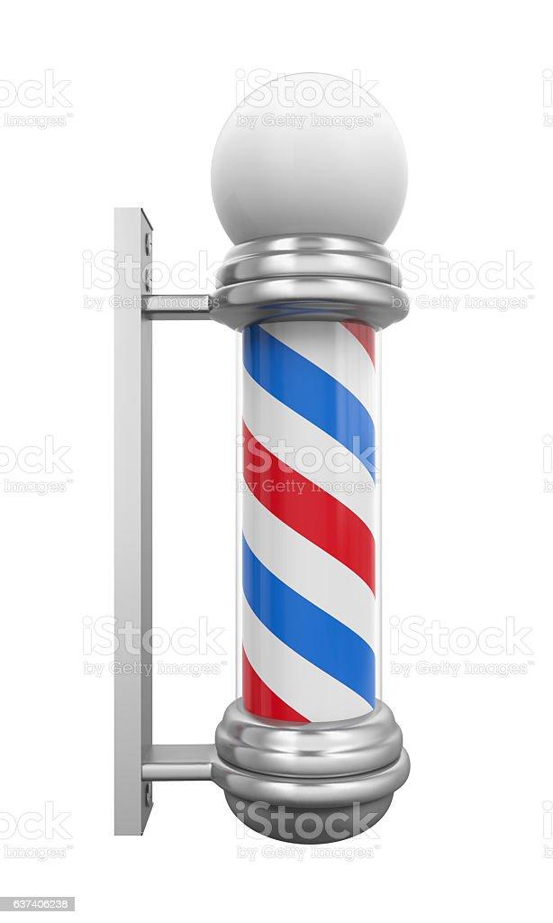 Classic Barber Shop Pole stock photo