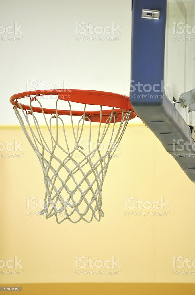 Classic basketball rim with net. royalty-free stock photo