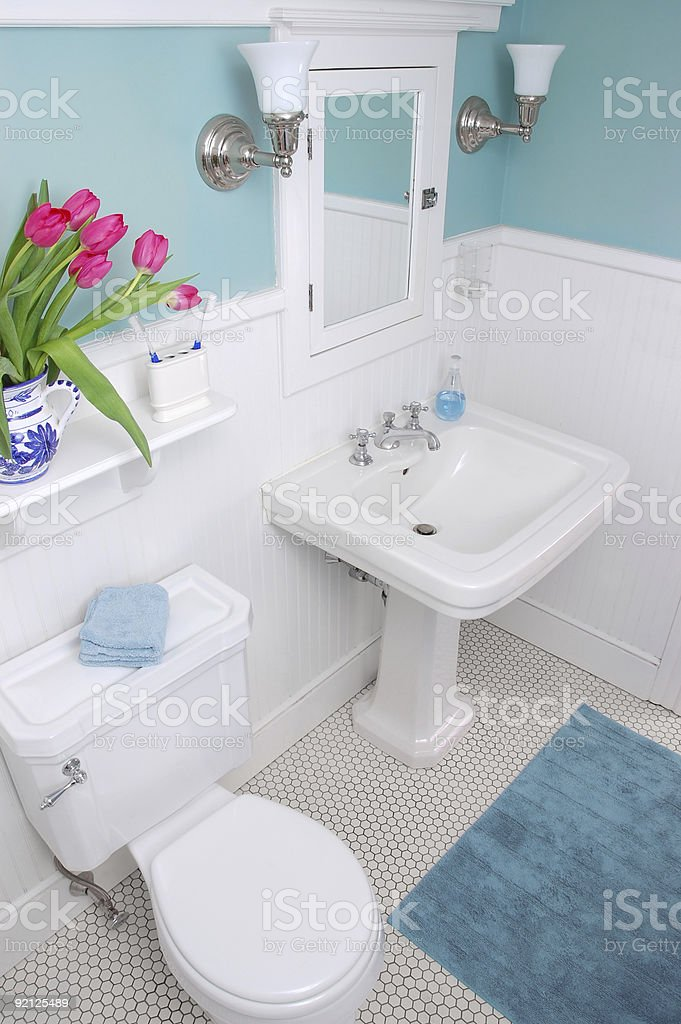 Classic bathroom stock photo