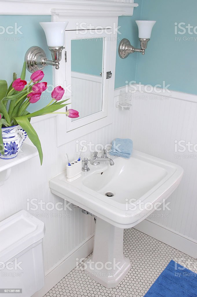 Classic bathroom stock photo