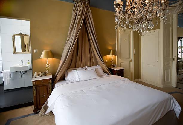 classic bedroom stock photo