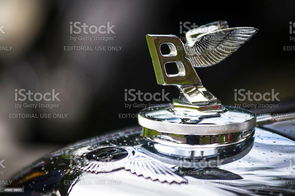 Classic Bentley Automobile Hood Ornament stock photo