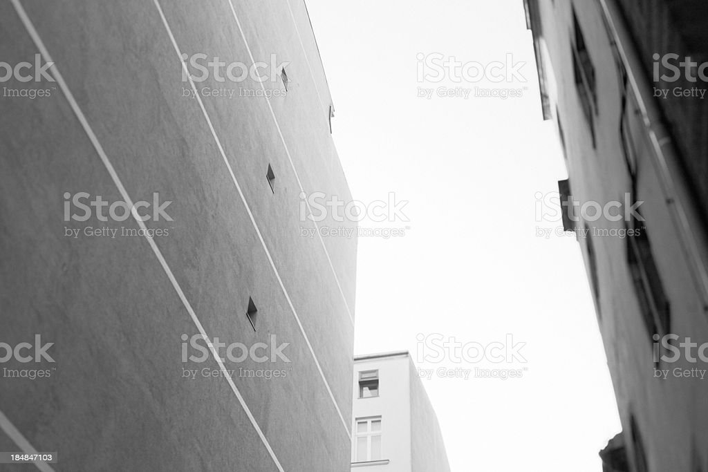 Classic Berlin Buildings in Black and White royalty-free stock photo