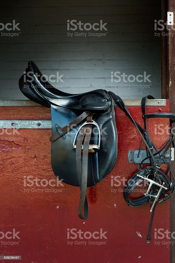 Classic Black Horse Ridding Saddle Stock Photo Download Image Now Istock