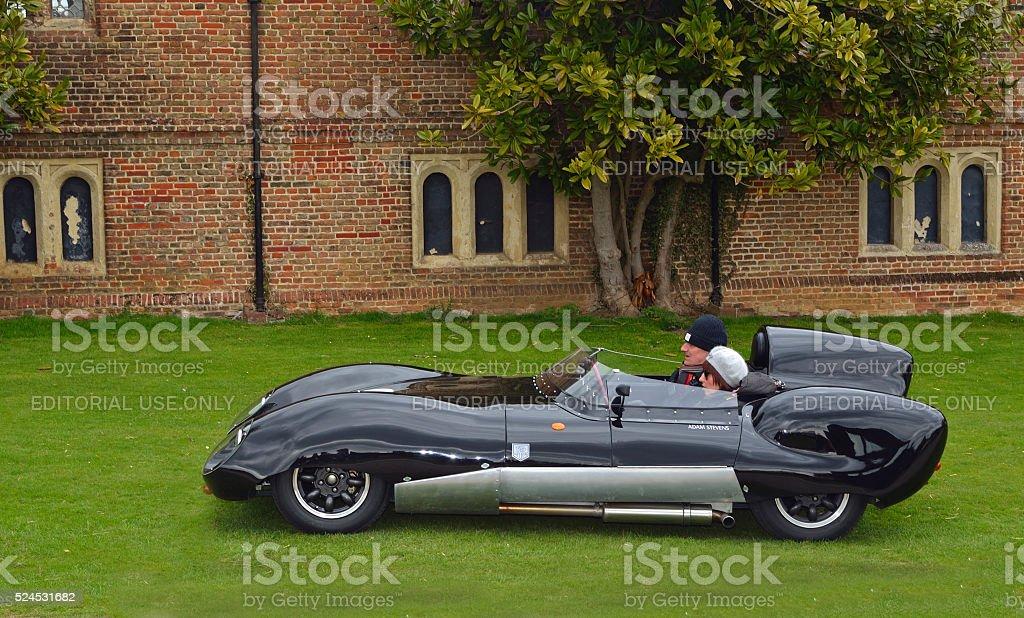 Classic Black Lotus racing car stock photo