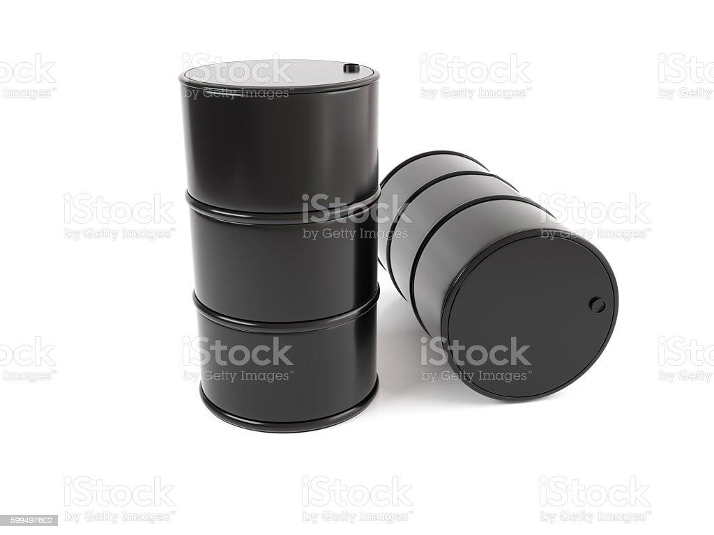 Classic Black Oil Drum. stock photo