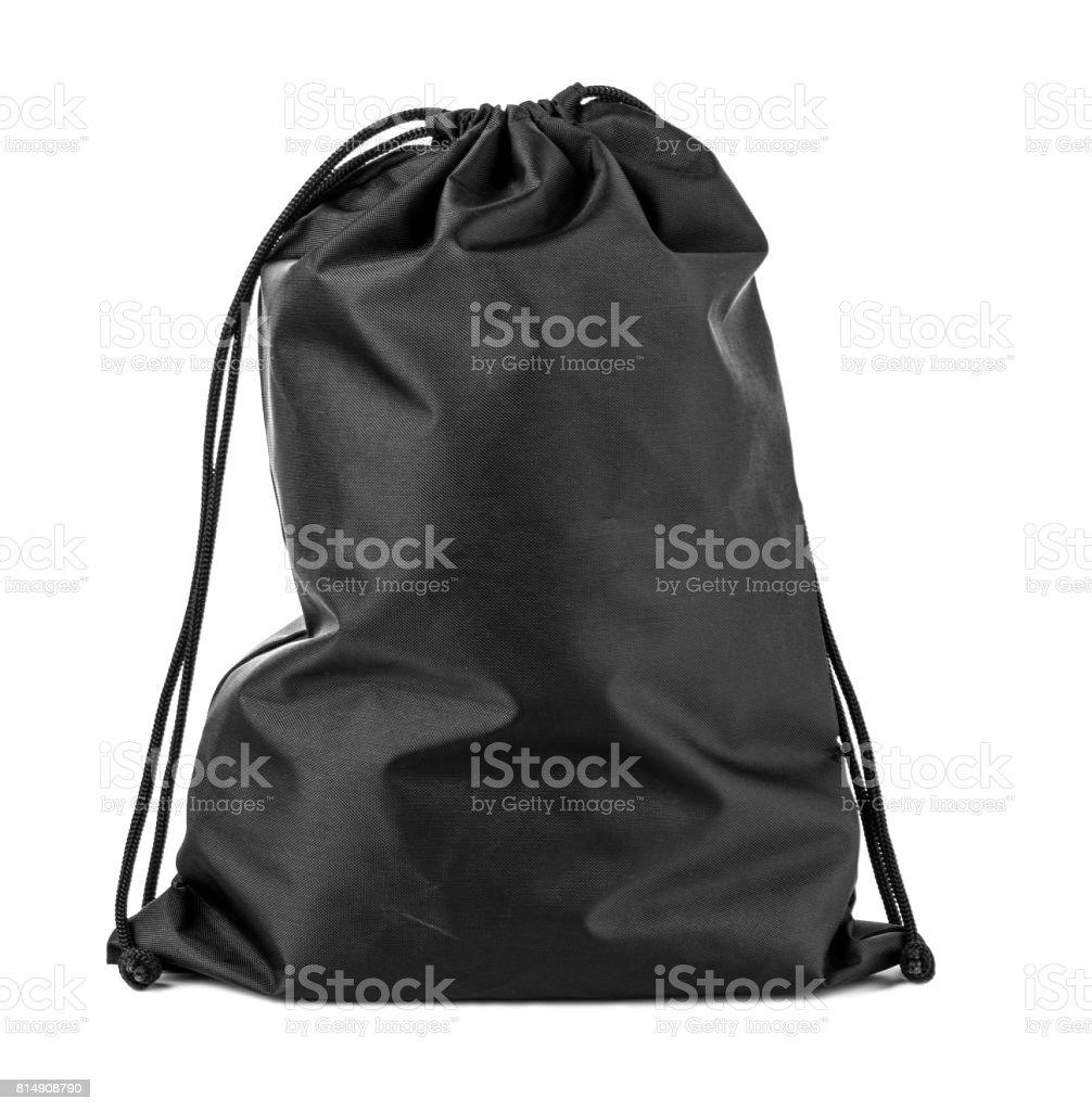 classic black sport bag stock photo