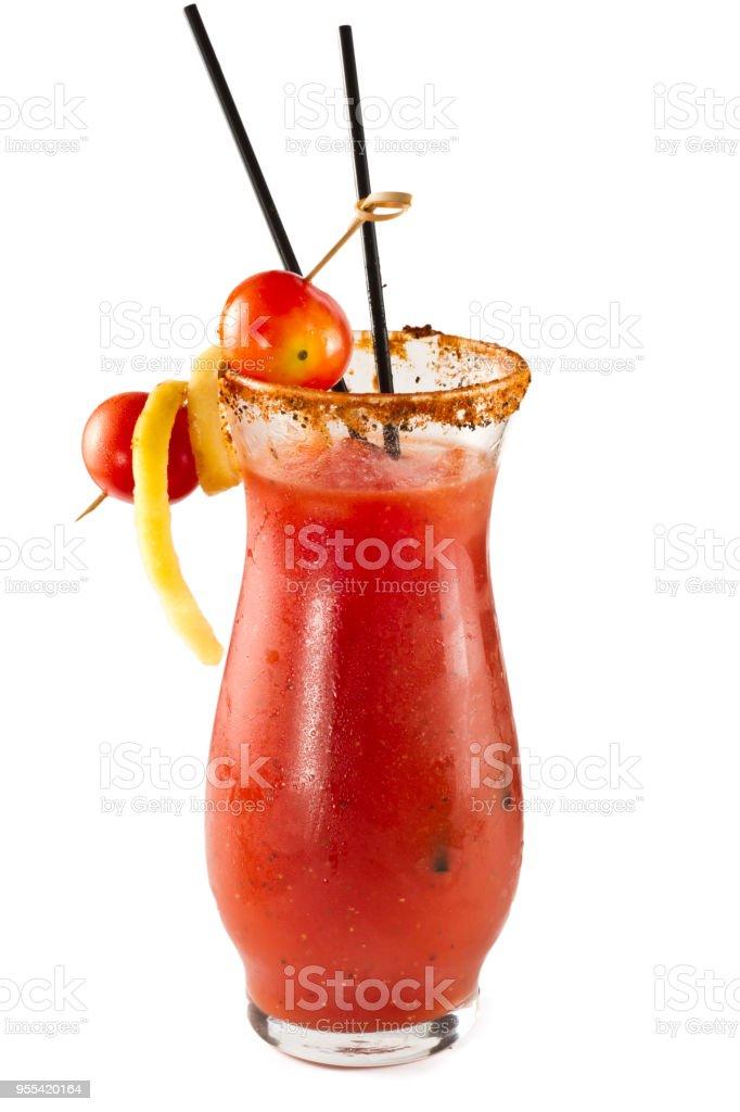 Classic Bloody Mary Cocktail - Zbiór zdjęć royalty-free (Alkohol - napój)