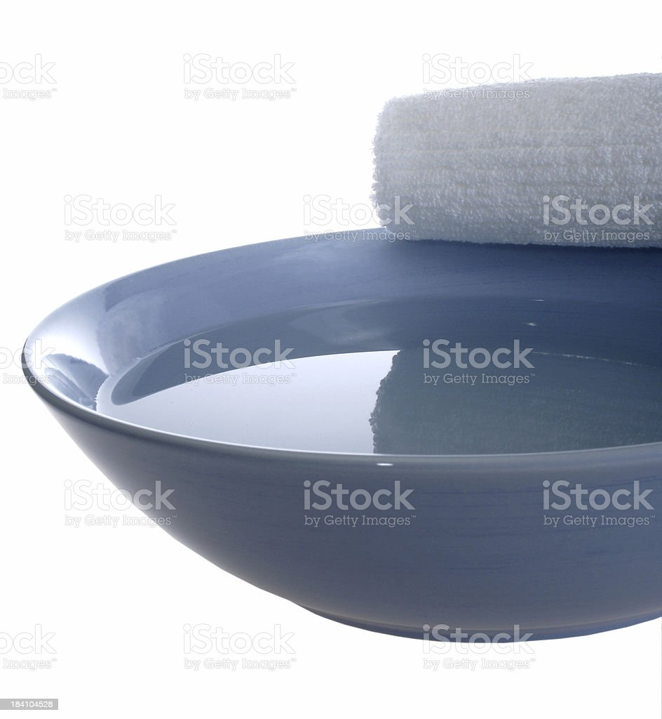 classic blue aromatherapy bowl stock photo