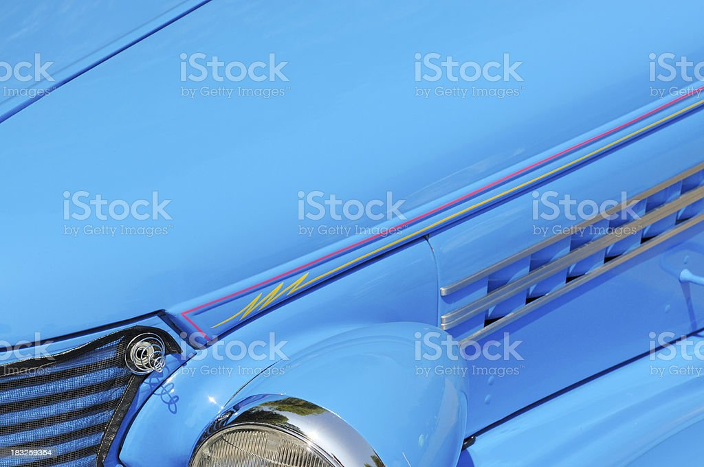 Classic Blue With Pinstriping Hot Rod Car At Public Show Stock Photo Download Image Now Istock