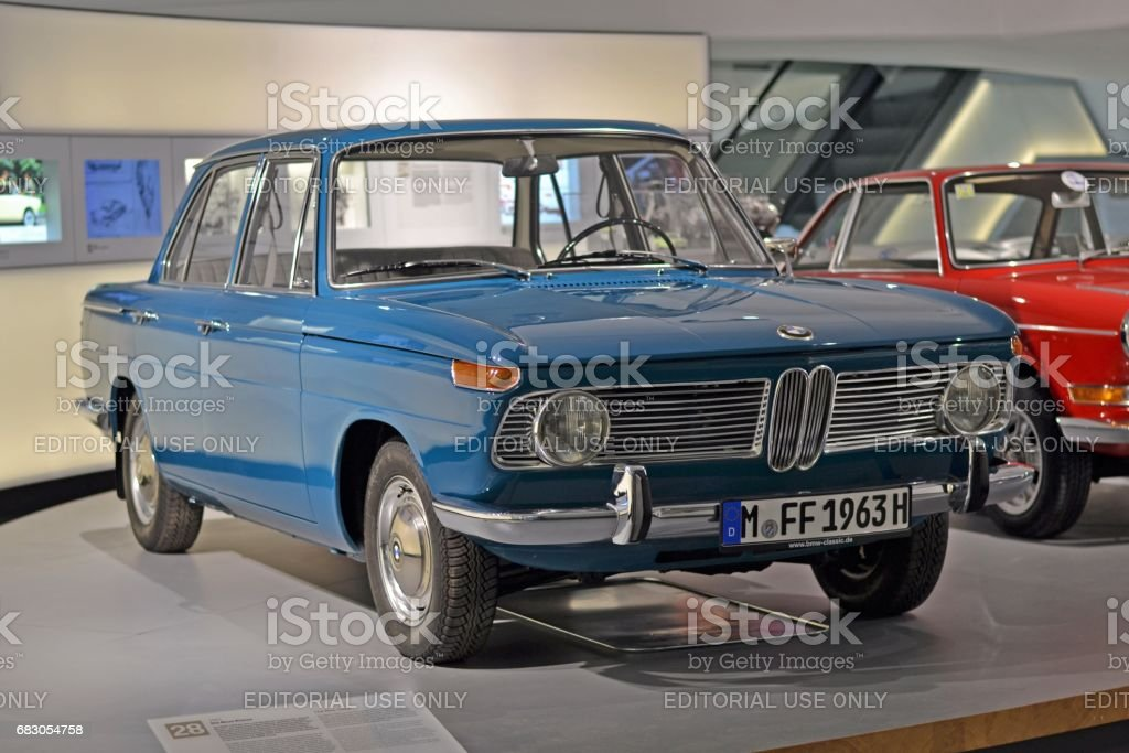 Classic BMW 1500 in museum stock photo