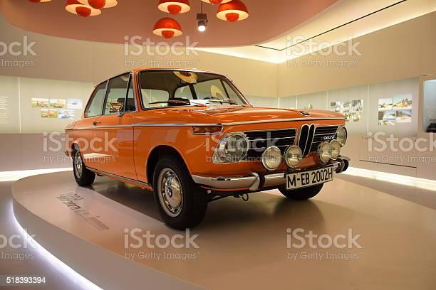 Classic BMW 2002 ti on the statical presentation.