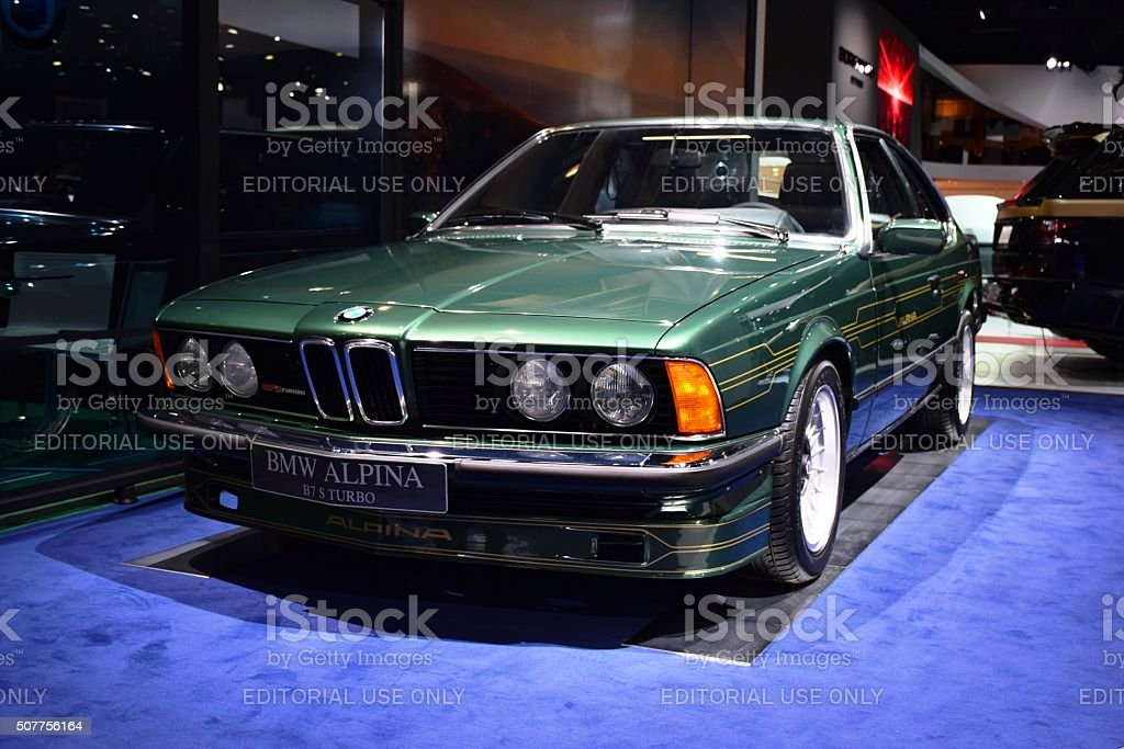 Classic Bmw Alpina B7 S Turbo On The Motor Show Stock Photo