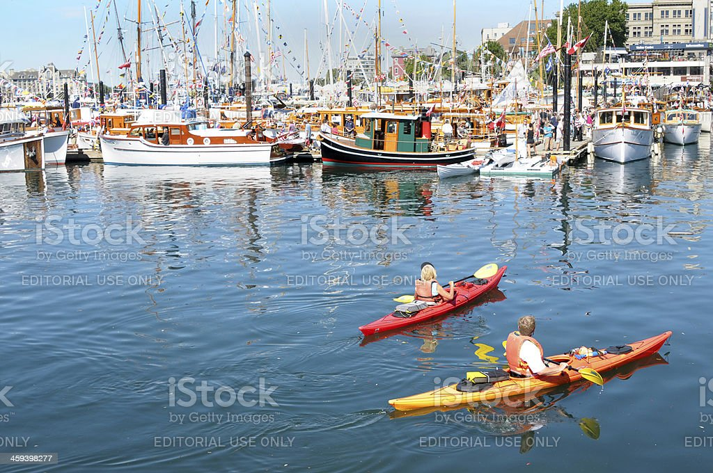 Classic Boat Festival in Victoria stock photo