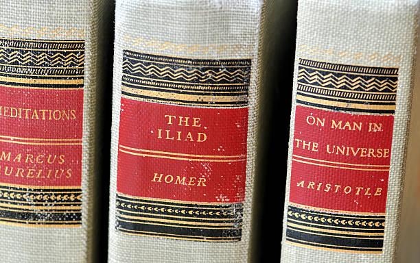 Classic Books stock photo