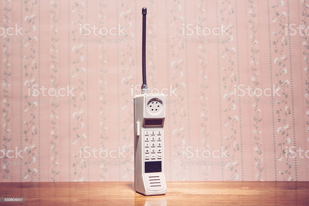 Classic Brick Cell Phone stock photo