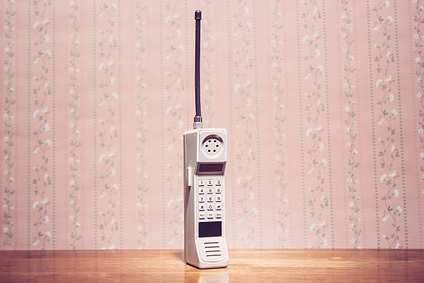 classic brick cell phone - 1980s style stock photos and pictures