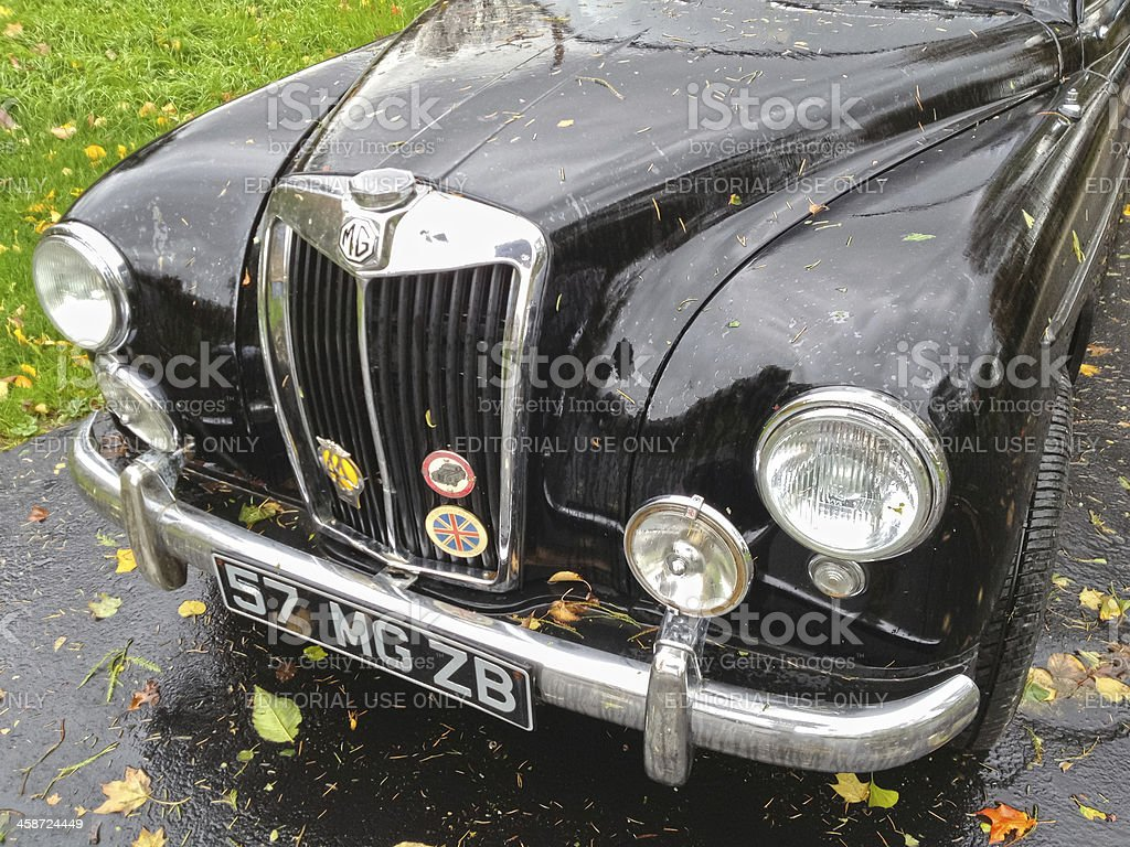 Classic British car - 1957 MG Magnette ZB royalty-free stock photo