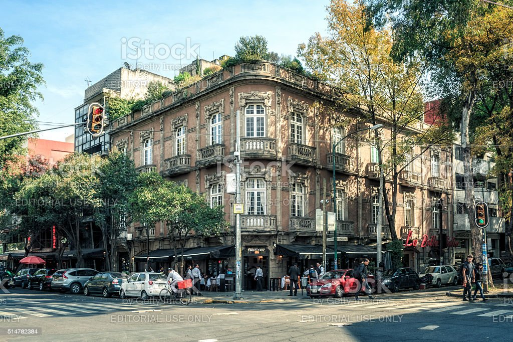 Classic Building in Mexico City stock photo
