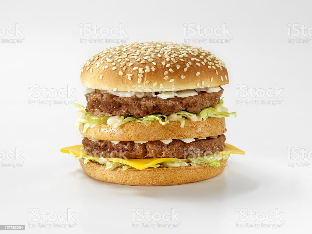Classic Burger with Special Sauce stock photo