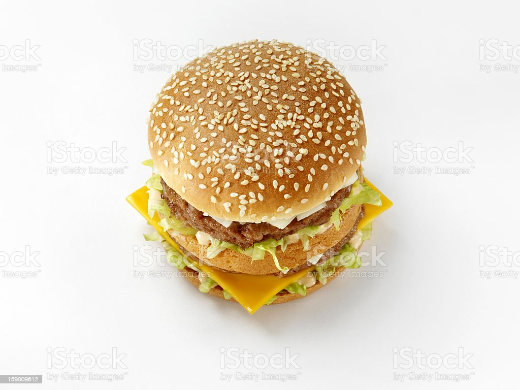 Classic Burger with Special Sauce royalty-free stock photo
