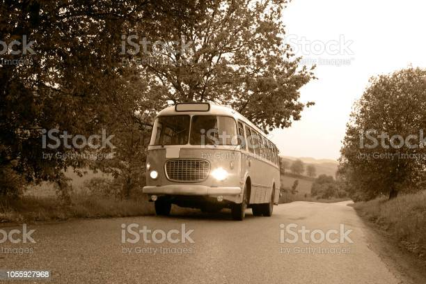 Classic bus on the road