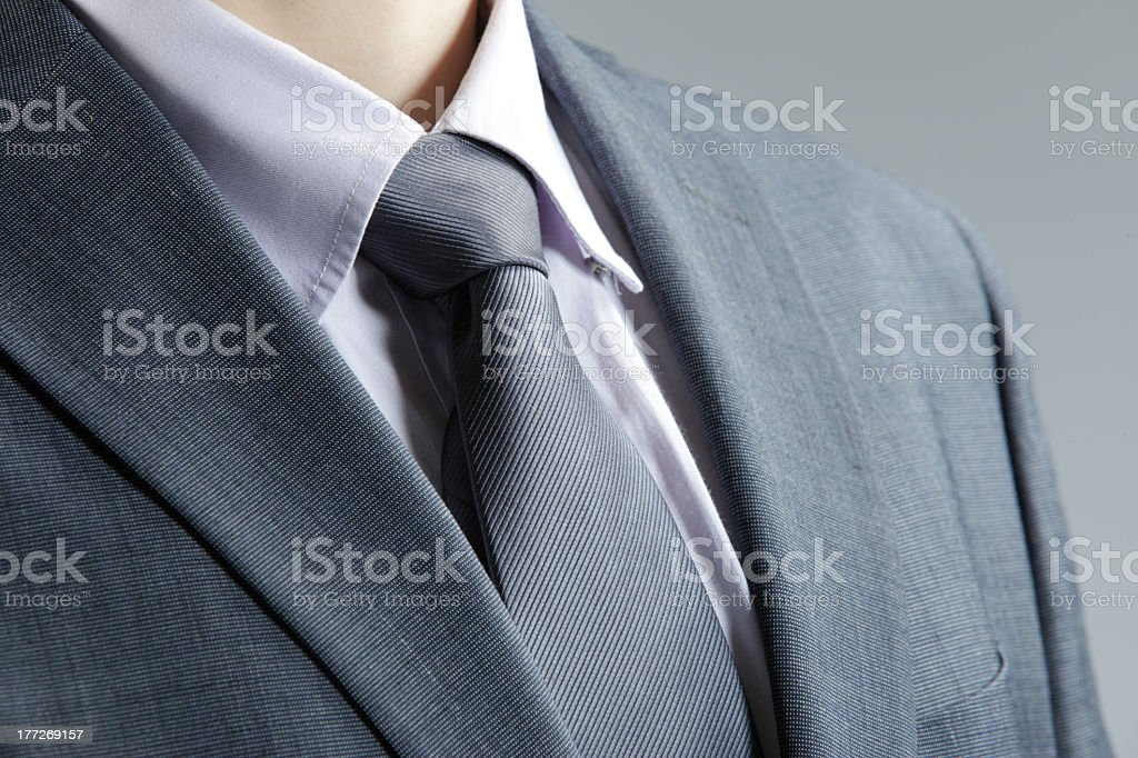 classic business attire with  tie and elegant blazer stock photo
