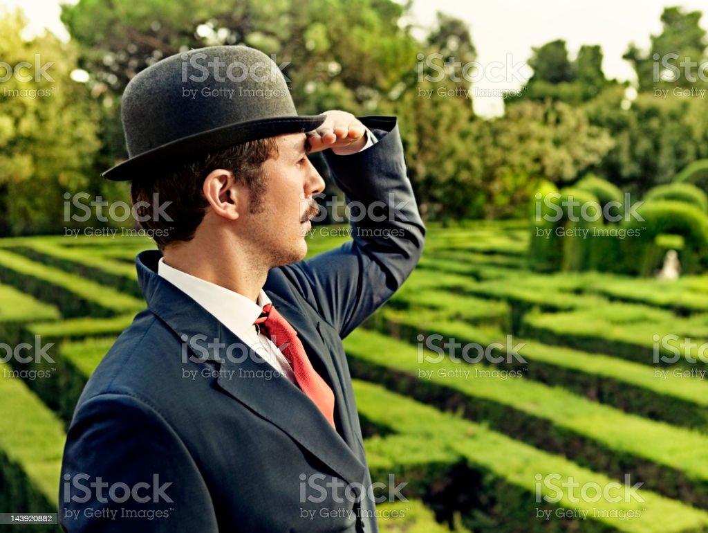 Classic businessman stock photo