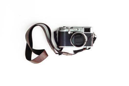 Classic camera on white