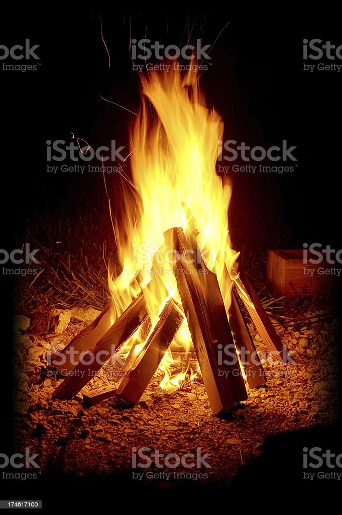 Classic Campfire royalty-free stock photo