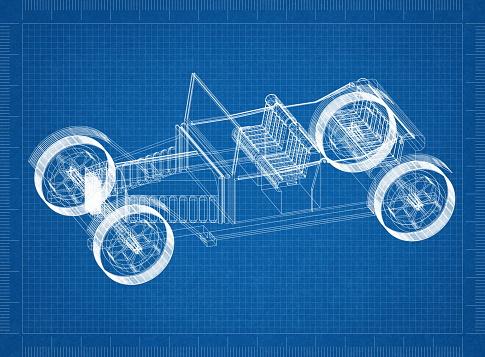 클래식 자동차 건축가 청사진 건설 산업에 대한 스톡 사진 및 기타 이미지