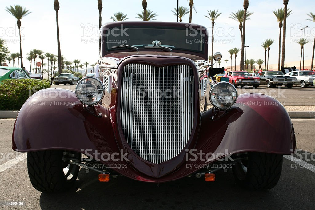 Classic car at show. royalty-free stock photo