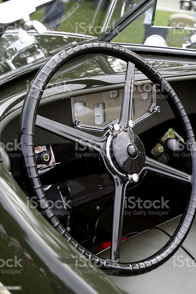 Classic car cockpit royalty-free stock photo