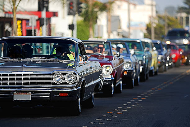 classic car cruising 2 - classic cars stock photos and pictures